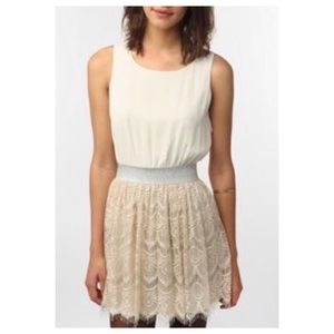 UO Pins & Needles Sleeveless Lace Overlay Dress